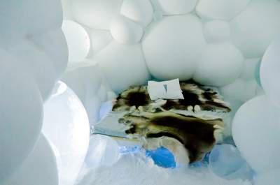 """Скульптуры из льда в отеле """"Снежной Королевы"""" (ФОТО)"""