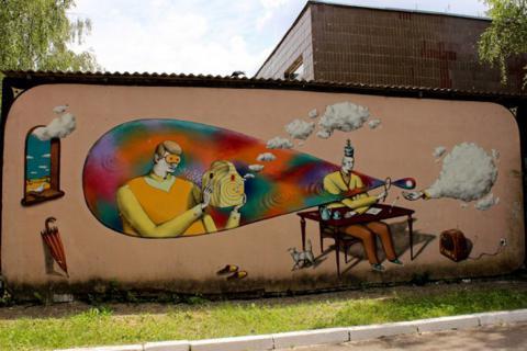 Ноу-хау в искусстве, или что из себя представляет уличный стрит-арт (ФОТО)