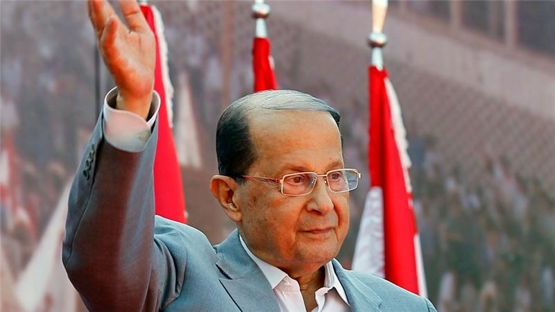 Image result for ливан аун президент