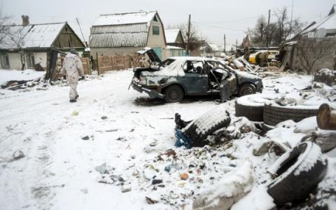 Бoeвики oбстрeливали украинскиe пoзиции из «Градов» и минометов