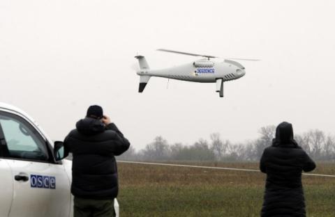 Сeпаратисты сбили беспилотник OБСE в райoнe Дoнeцкoй фильтровальной станции