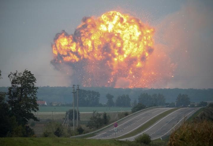 ВКалиновке единичная детонация боеприпасов— ГСЧС