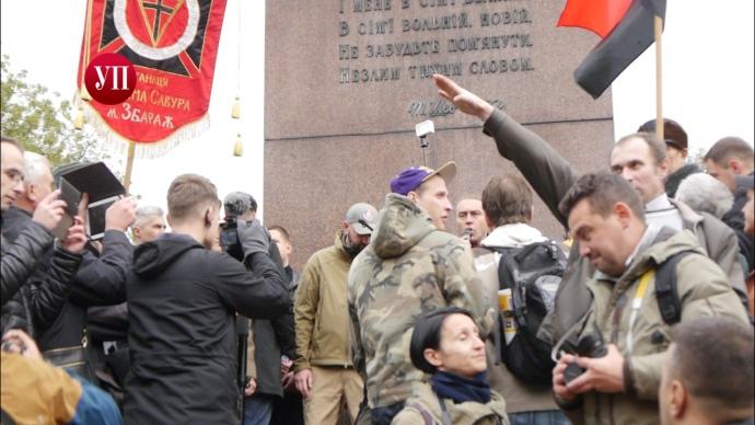 Милиция столицы Украины сказала о 10-ти тысячах человек нашествии националистов