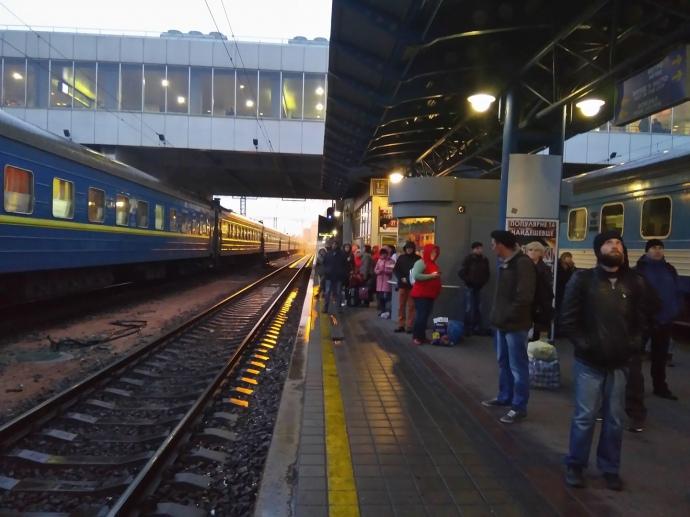 Ж/д-вокзал вКиеве опять переполошили из-за ложного сообщения овзрывчатке