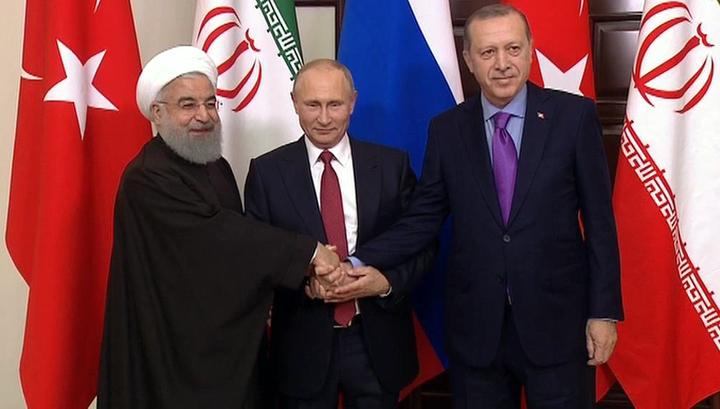 Путин вбеседе сРоухани: прогресс вурегулировании ситуации вСирии есть