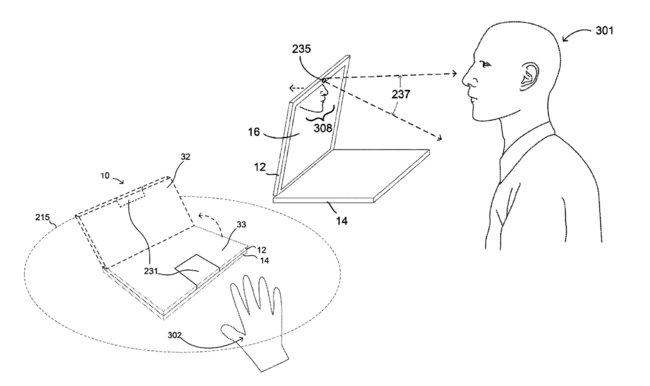 Google запатентовала ноутбук сдвигателем