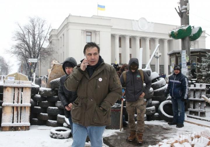 Саакашвили покинул палаточный городок под Радой