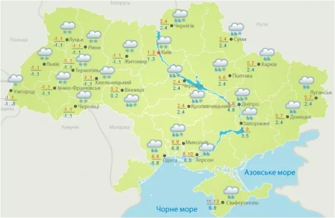 ВУкраинском государстве непогода лишила света 84 населенных пункта
