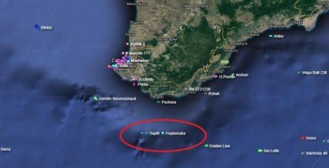 Украинские буксиры подплыли к Крыму, где должны забрать задержанные корабли: карта
